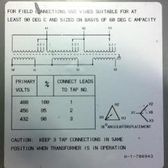 480v 3 Phase Wiring Diagram Table Setting Formal Dinner Ot - 208v Three Transformer Question