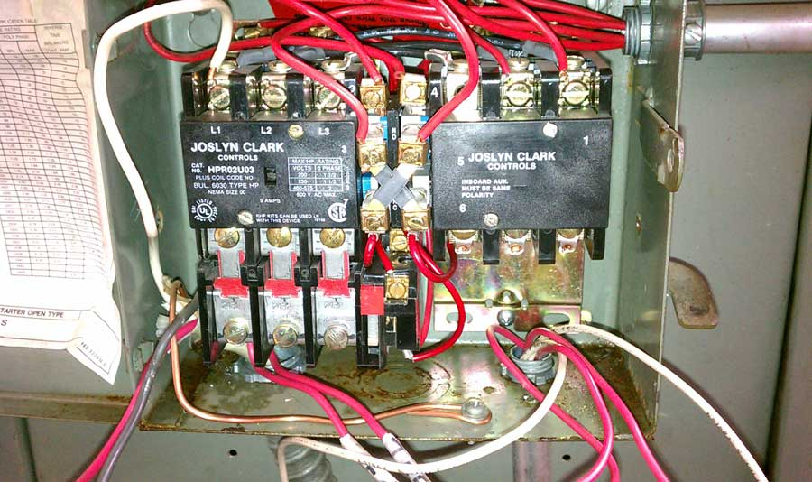 dual motor starter wiring diagram ford trailer use a 3 pole reversing contactor for 1-phase 220?