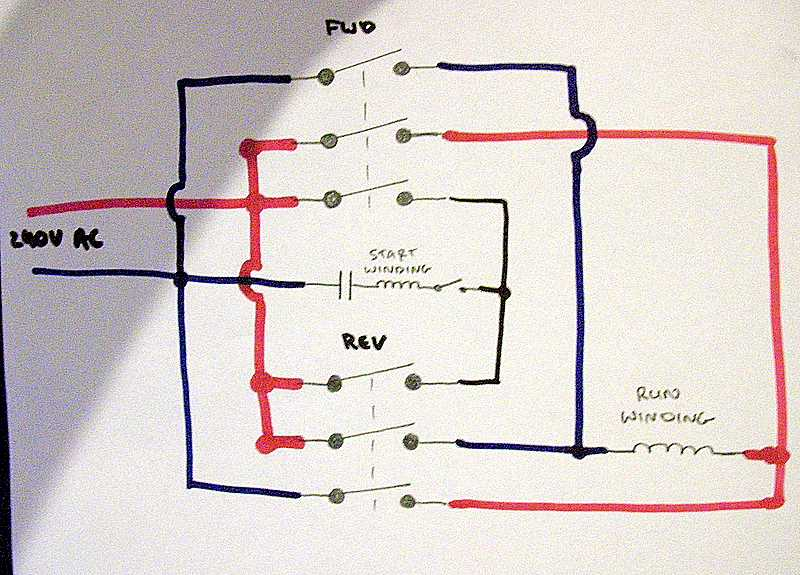 wiring diagram reversing circuit speaker cable use a 3 pole contactor for 1-phase 220? - page 2