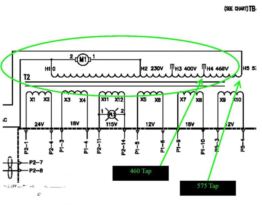 medium resolution of 875 xfrmrtaps jpg 875 xfrmrtaps 400 460volt jpg plasma cutter electrical help needed converting 220 single phase
