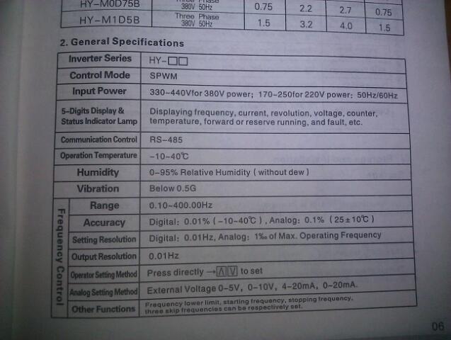 110v Motor Wiring Diagram Huanyang Vfd Question