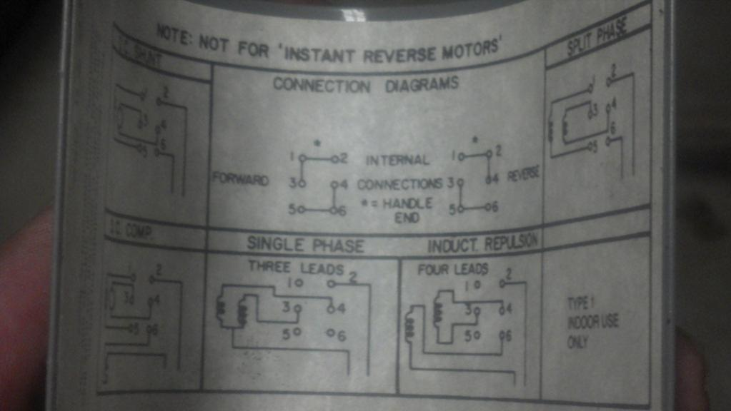 3 Phase Motor Connection Diagram Help On Wiring A Drum Switch To A Single Phase 230v Motor