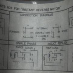 Single Phase Motor Wiring Diagram 4 Wire Dc Circuit Breaker Help On A Drum Switch To 230v