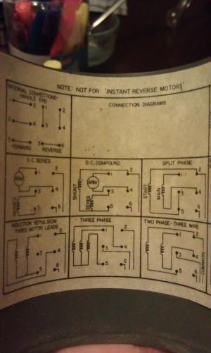 Assistance Wiring a Dayton Drum Switch