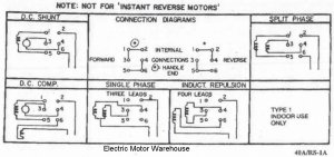 Help wiring a single phase motor with reversing switch for