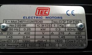 Wiring single phase electric motor to mains electricity?