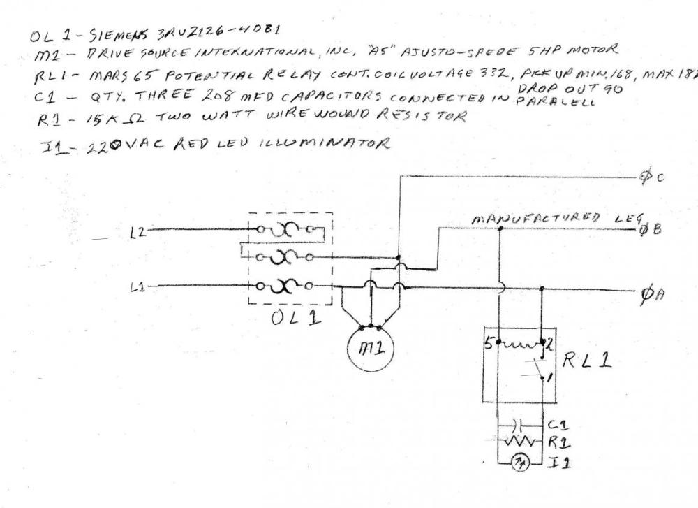 medium resolution of help with new rpc build potential relay does not always potential relay wiring diagram capacitor start capacitor run motor diagram