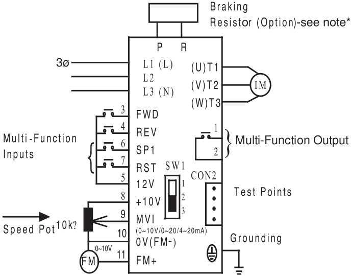 teco inverter wiring diagram