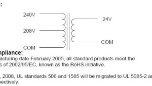 need help wiring 240v > 24v transformer for RPC start curcuit
