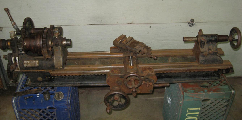 Identify weighted  saddle found on Seneca Falls lathe