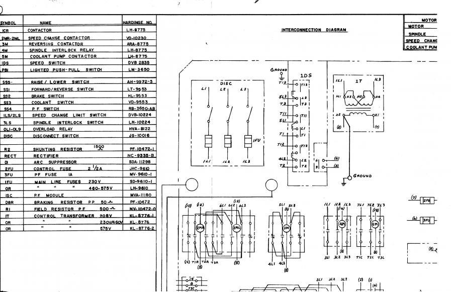 Hardinge HLV-H EM wiring help