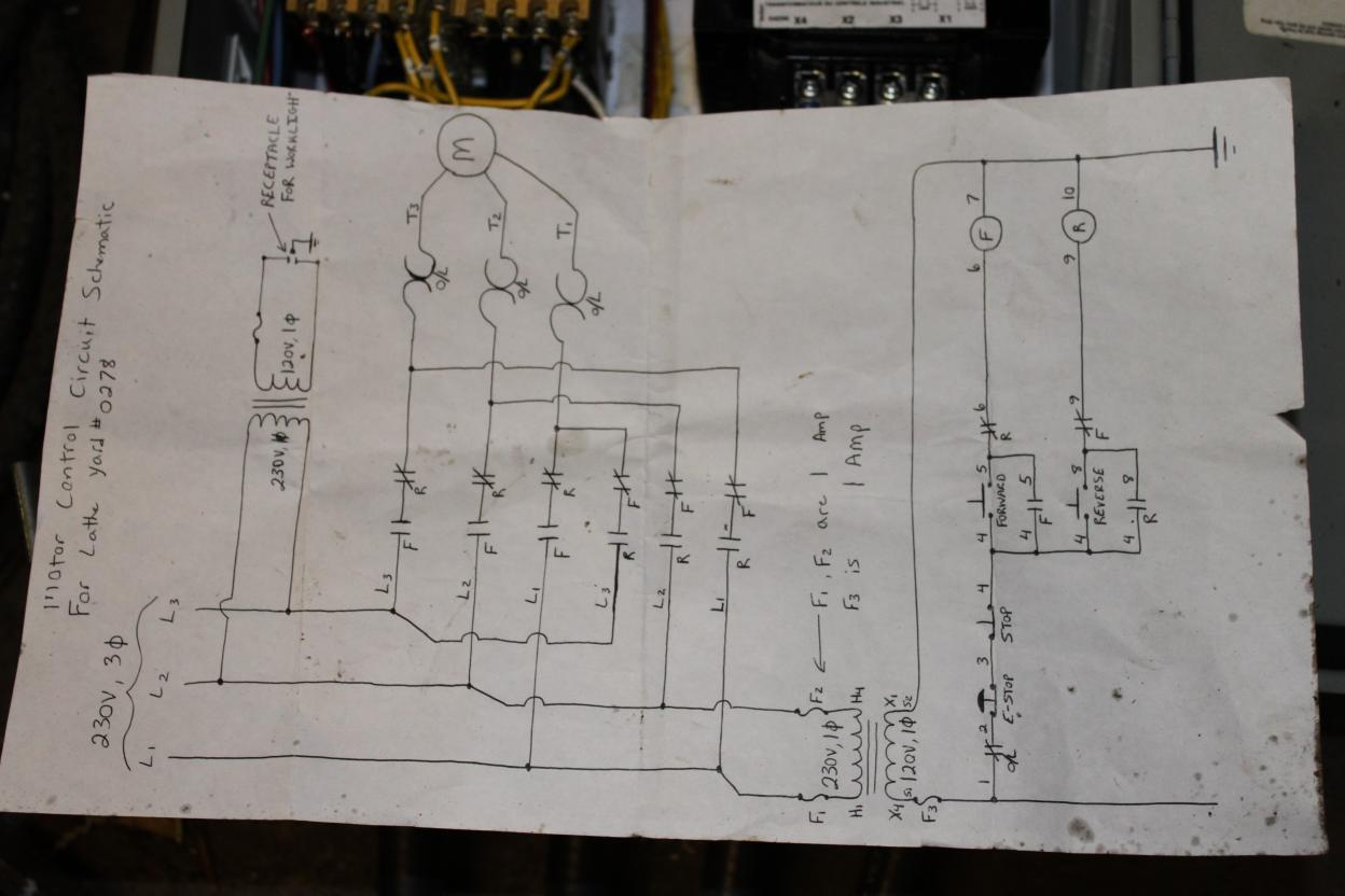 5 Wire Motor Reversing Diagram Wiring Lathe And Vfd