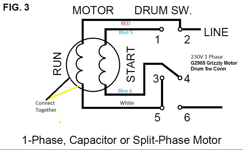 wiring diagram together with drum switch single phase motor wiring