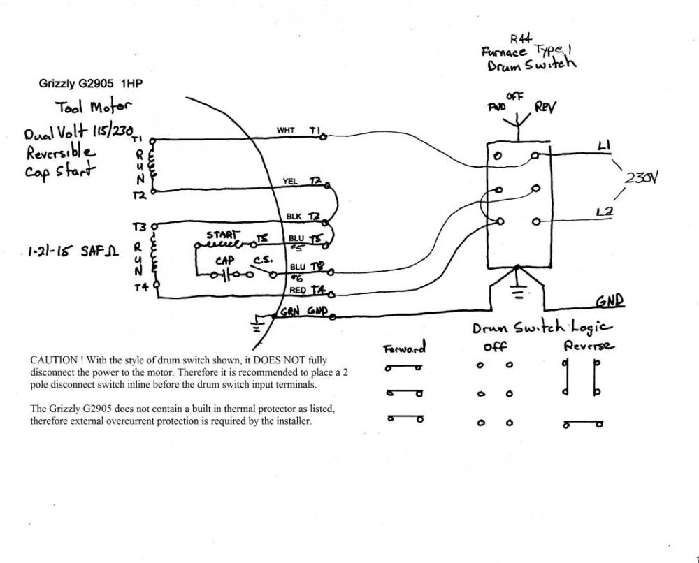 medium resolution of help on wiring a drum switch to a single phase 230v motor motorcycle 110 220 volt