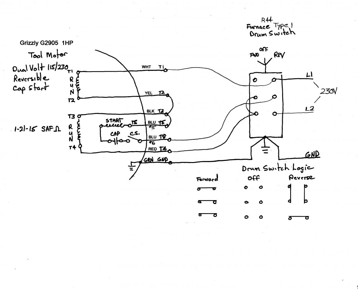 drum switch single phase motor wiring diagram cow meat basic yet another novice