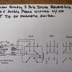 Reversing Drum Switch Wiring Diagram Humidifier Hp 1 How Do I Wire Up My 220v Single Phase Magnetic