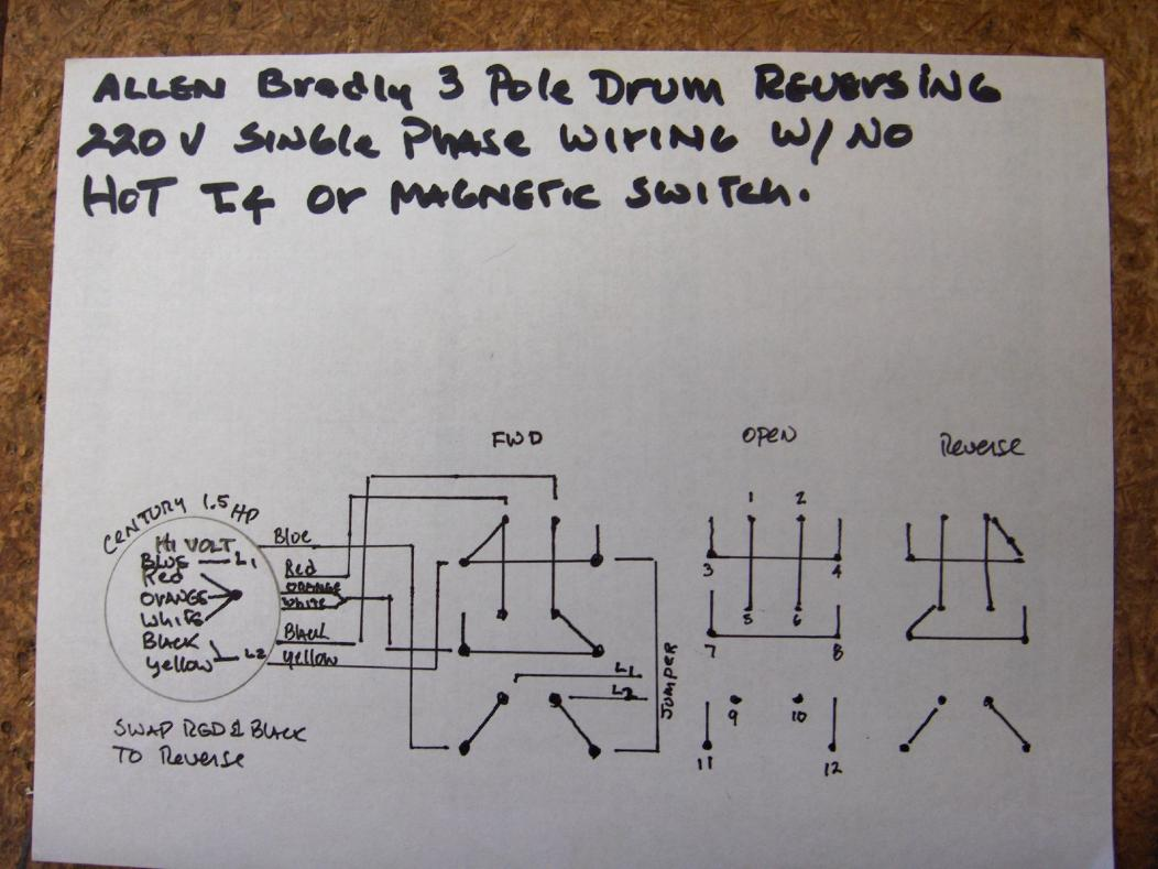 hight resolution of how do i wire up my drum switch 220v single phase wiring diagram for 220 2 pole