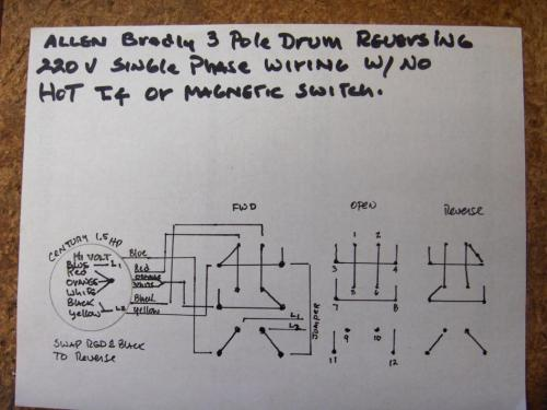 small resolution of drum switch single phase motor wiring diagram