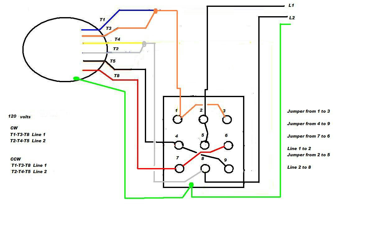 Wiring A 9 Lead Motor To Drum Switch