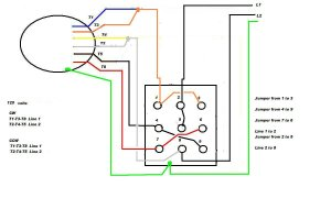 Wiring a 9 lead motor to Drum Switch