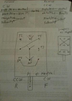 Reversing GE motor with 6 leads and a furnas drum switch  Page 3