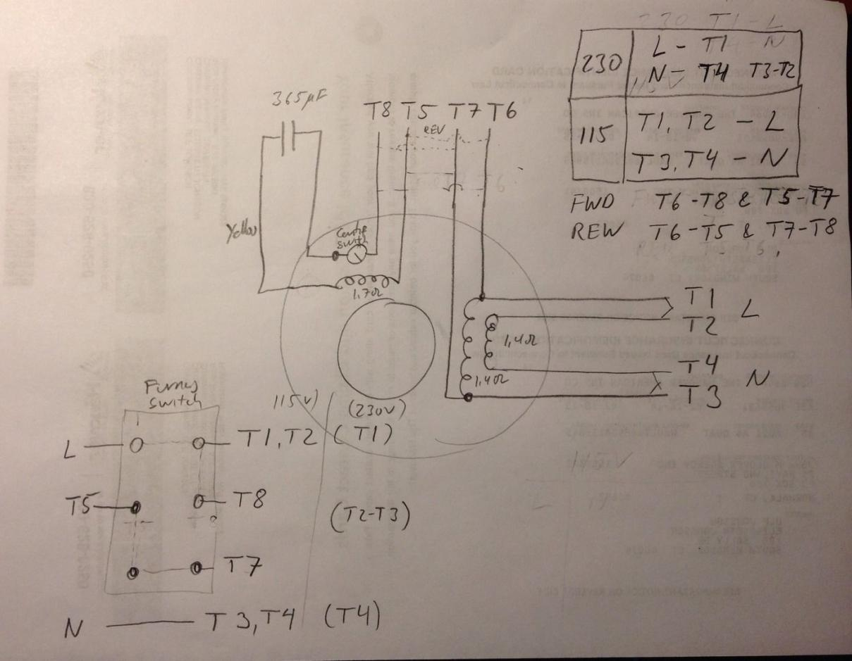 Motor For 10 Heavy 3 4 Hp Wiring Diagram For 8 Lead Dumore For Ref