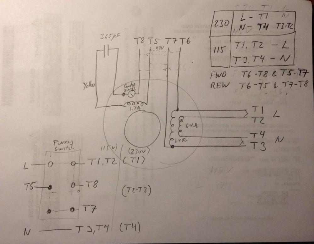 medium resolution of fs original motor for 10 heavy 3 4 hp wiring diagram for 8 lead dumore for ref
