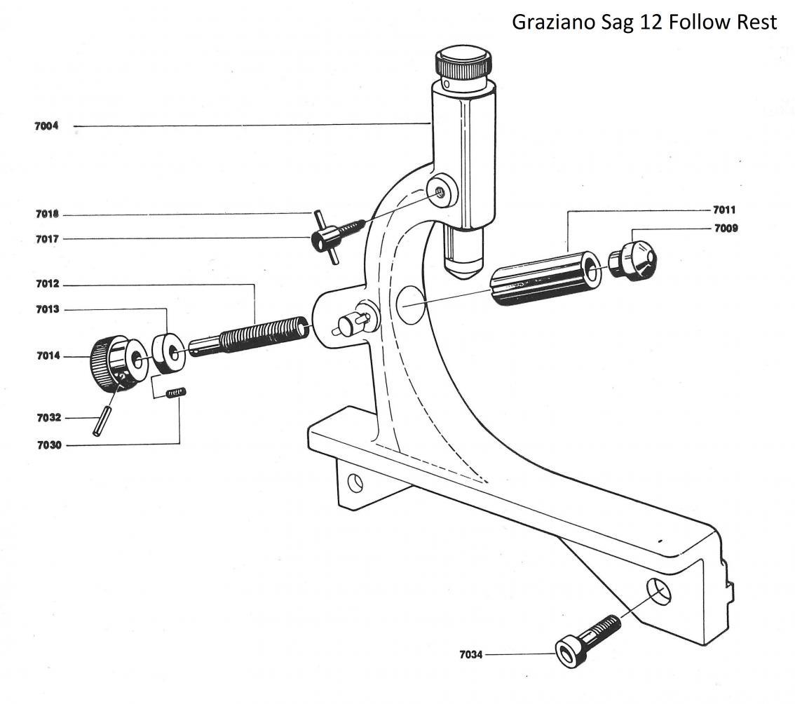 Graziano Sag 12 Accessories 2 Follow Rest