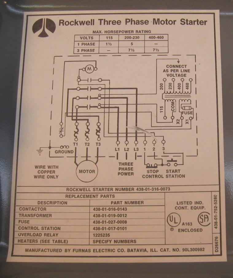 Motor Starter Wiring Diagram Single Phase Capacitor Motor Wiring