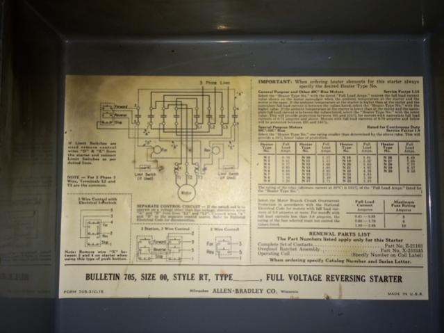vfd starter wiring diagram for ac compressor fs - allen bradley reversing motor 705 size 00