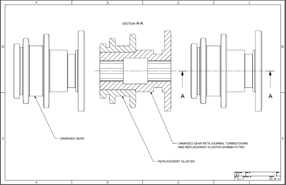 RFQ: Cluster Gears For a lathe (drawings included)