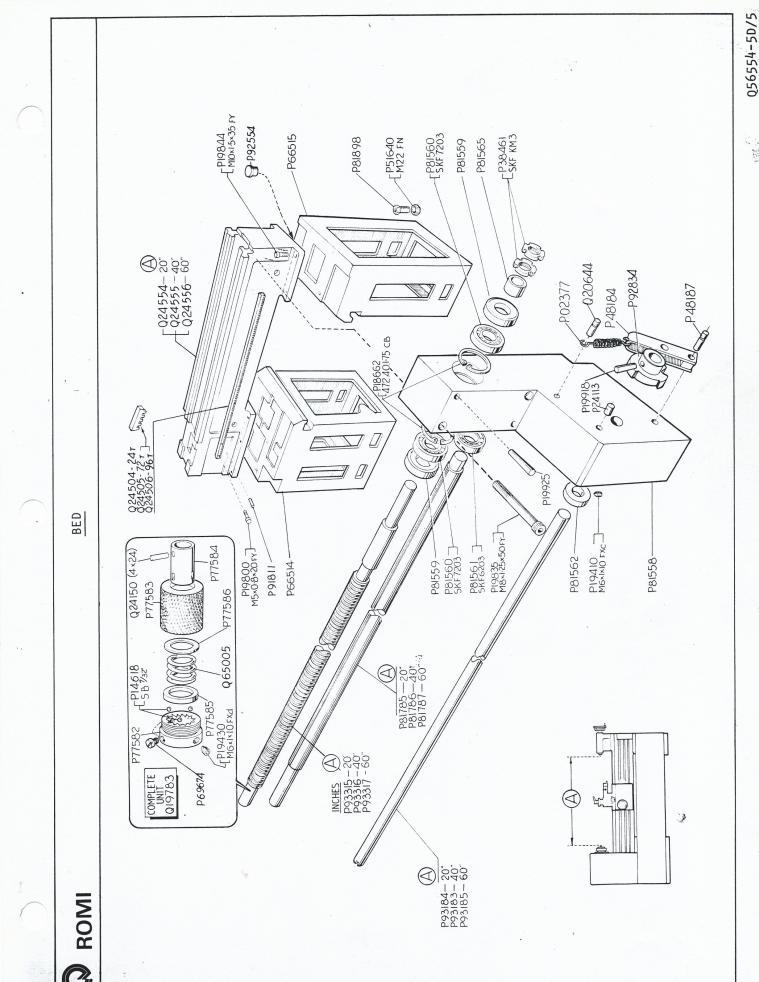 In need of Romi 16-5 lathe manual, parts break down.