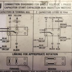 Two Speed Three Phase Motor Wiring Diagram John Deere Z425 Mower Single Blowing Run Capacitor