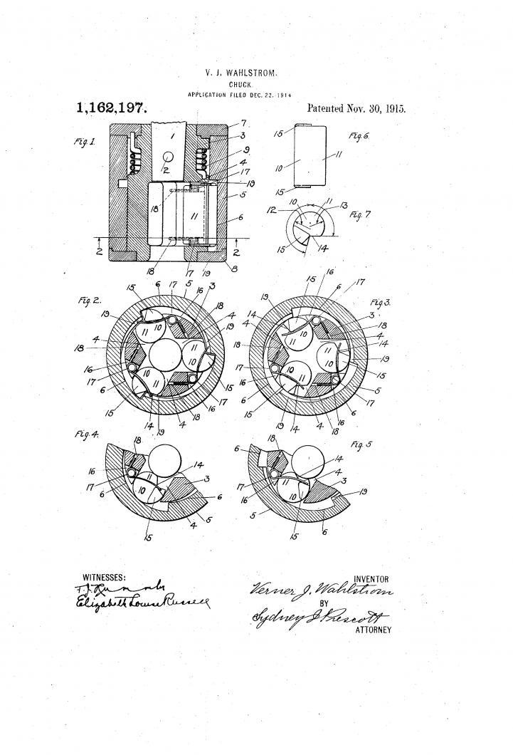 wahlstrom keyless chuck mdl. 28-31 repair
