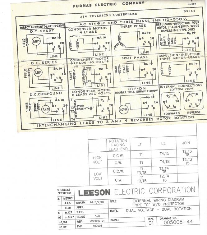 century electric motor wiring diagram diagrams for outlet switch and light i need help leeson to furnas