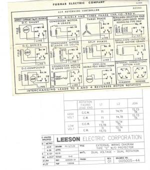 I need help Wiring Leeson Motor to Furnas switch
