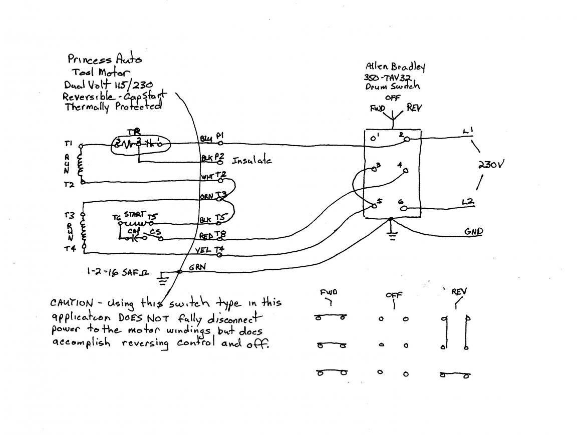 Wiring Diagram Ac Motor Reversing Switch