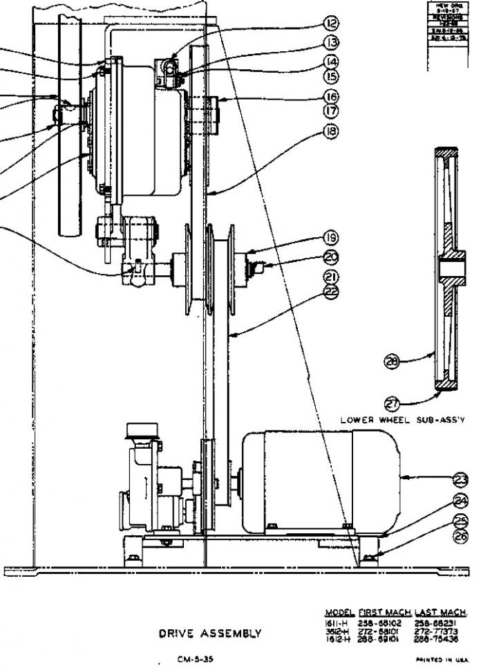 Doall vertical bandsaw alignment help needed!