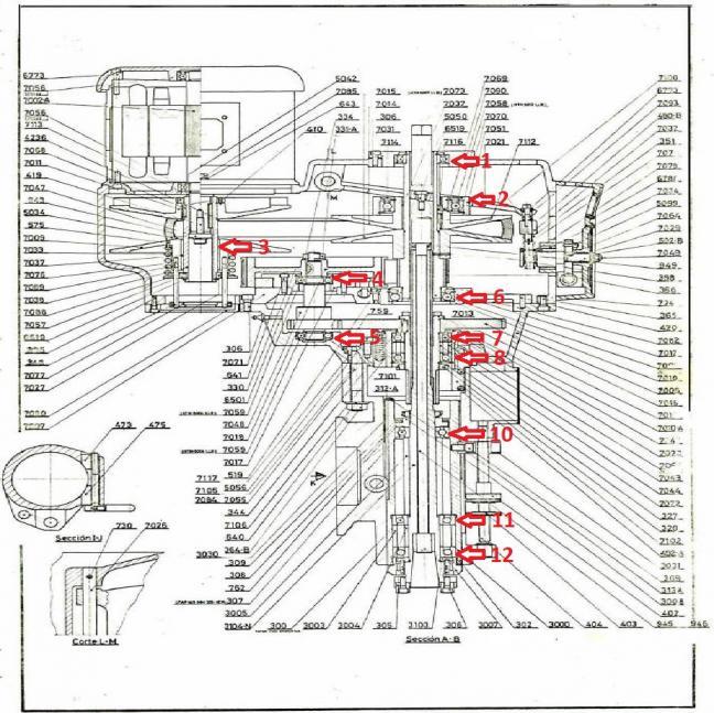 Lagun Vertical Mill Vari-Speed Head Lubrication