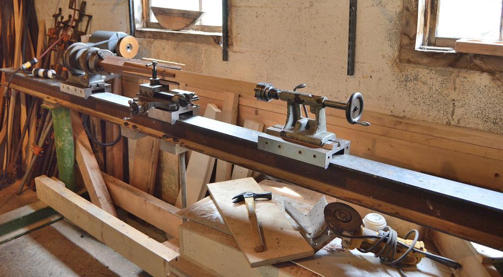 Wood Lathe Long Bed