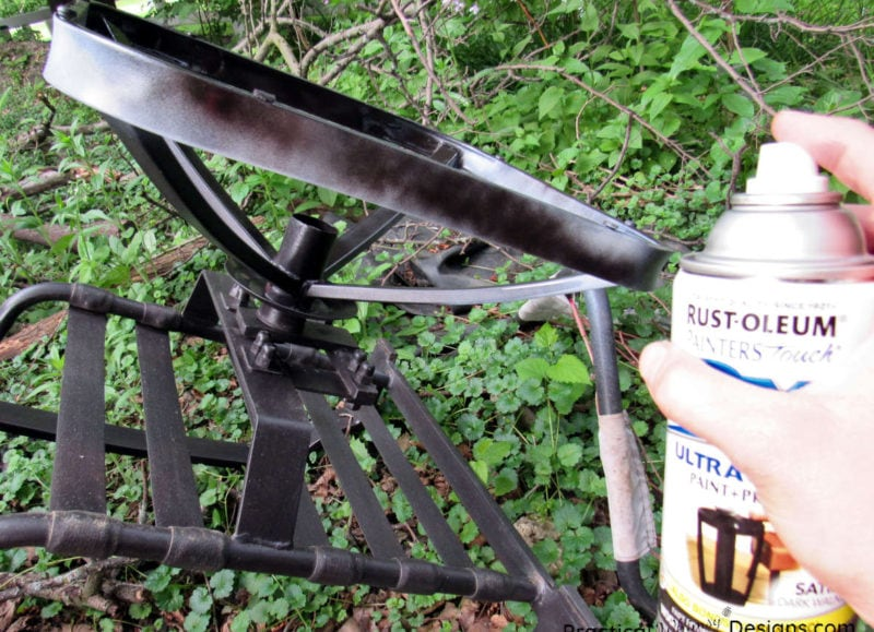 how to refinish metal patio furniture