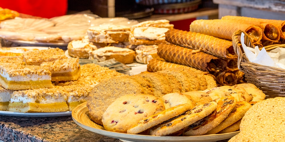 Table full of pastries