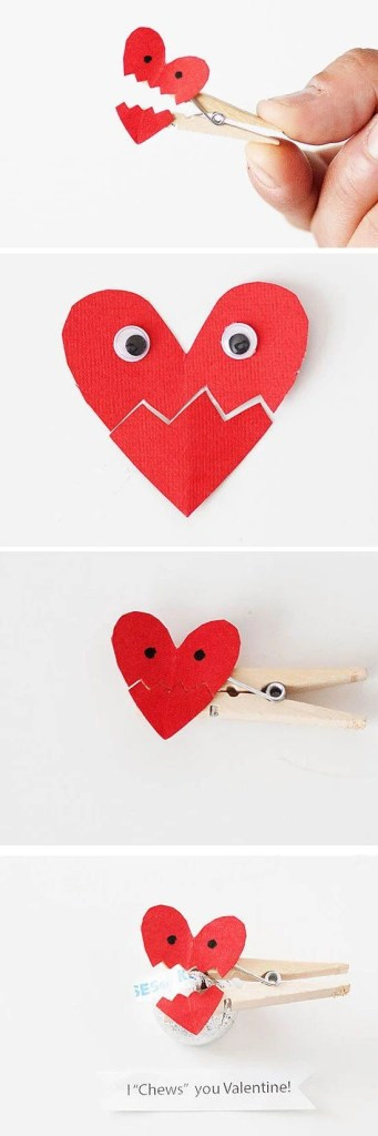 Clothes Pin Heart Craft