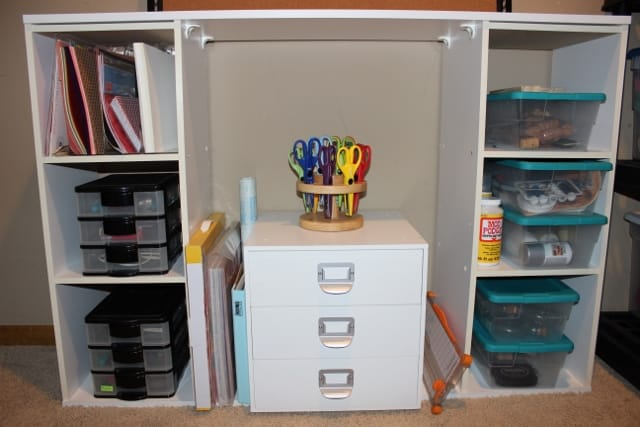My craft shelf and drawers