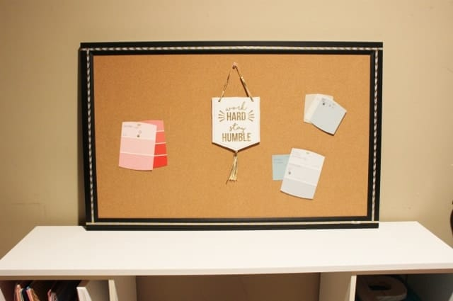 Bulletin board with project inspiration