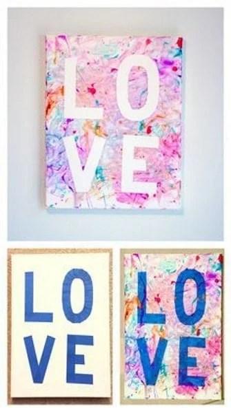 Love canvas decoration