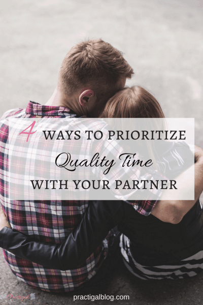 Spending regular quality time with you partner grows the relationship because it allows you to connect on a deeper level. Find out four easy ways to prioritize quality time with your partner so that you always have time for each other.