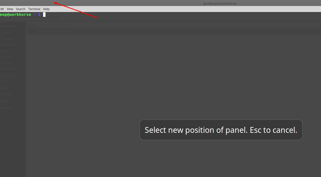 Move panel to the top on Linux Mint 18 | Jack of all