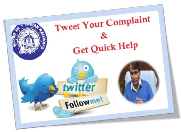 traveling in a train, Tweet Your Complaint And Get quick help