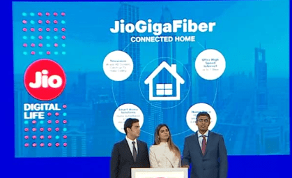Jio GigaFiber TV Booking from August 15